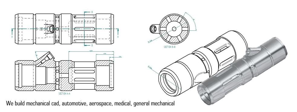 He builds mechanical cad, automotive, aerospace, medical, general mechanical